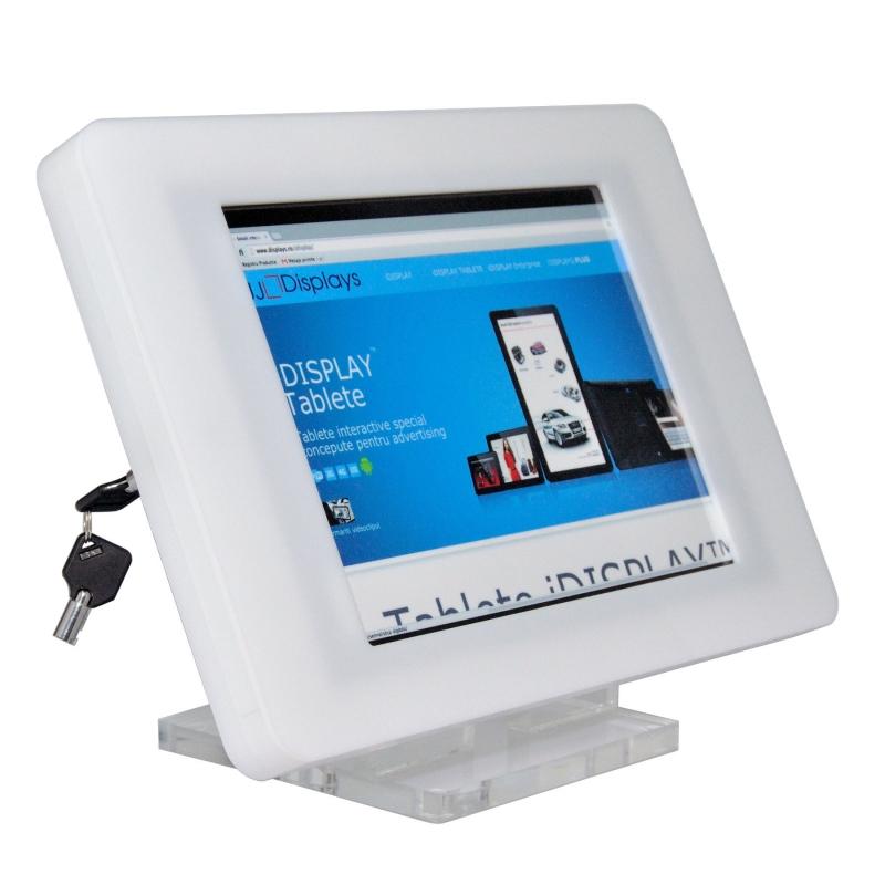 Suport securizat din plexiglas pentru tablete iPad